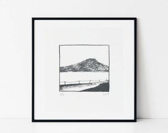 Original screen print | Mountain | Mini screen print