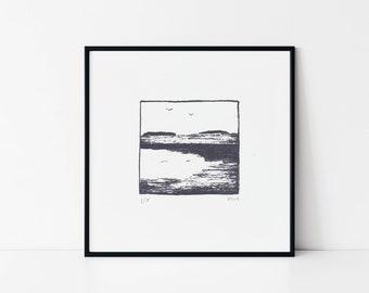 Original screen print | Lake | Mini screen print