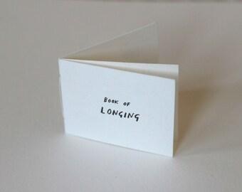 Book of Longing | Mini handmade book | Mini zine