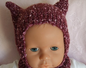 Hand Knitted Girls Cat Ears Hat 36c5fcc8a2