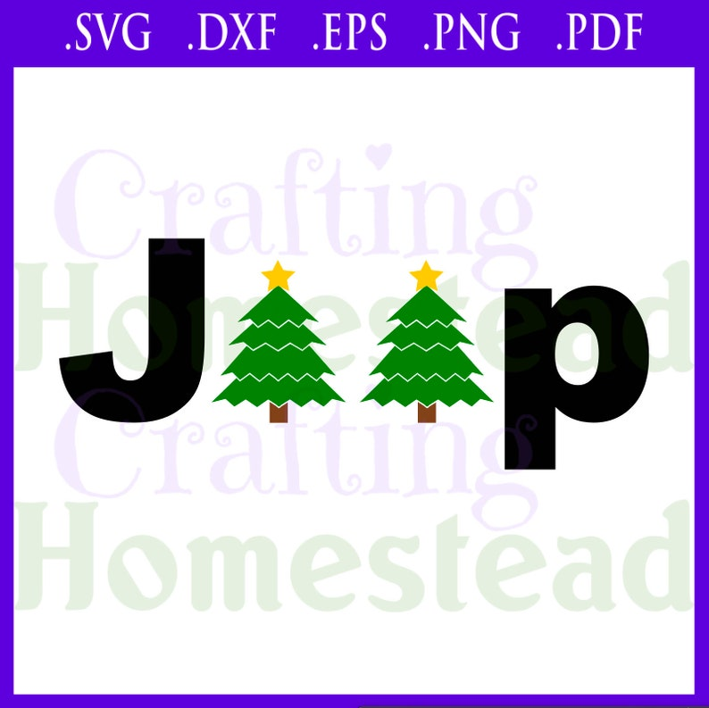 Christmas Jeep Silhouette.Jeep Inspired Christmas Tree Holiday Spirit Evergreen Pine Star Cheer Svg Dxf Eps Png Pdf Files Cricut Silhouette
