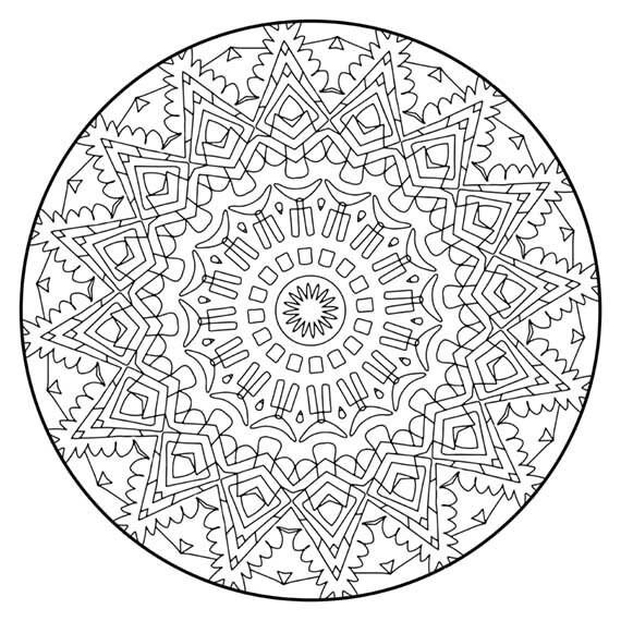 Mandala Coloring Pages The Azambuja Mandala Coloring Page Etsy