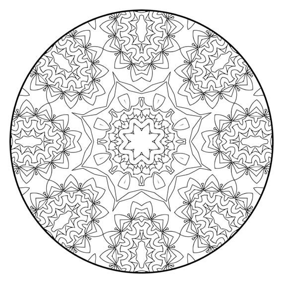 Mandala Coloring Pages The Eanes Mandala Coloring Page | Etsy