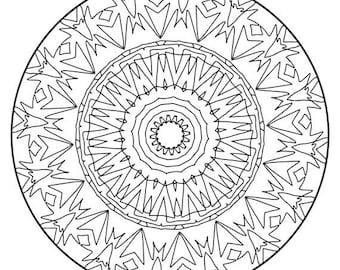 Mandala Coloring Pages - The Goncalves - Mandala Coloring Page Printable, Adult Coloring, Digital Coloring, Mandala Art