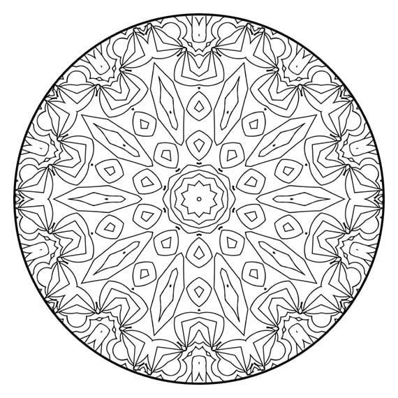 Mandala Coloring Pages The Houtman Mandala Coloring Page Etsy