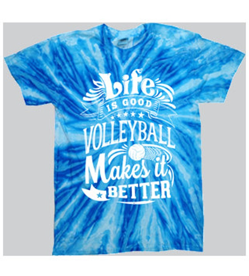 55abbd12a10 Life Is Good Tie-Dye Volleyball T-shirt