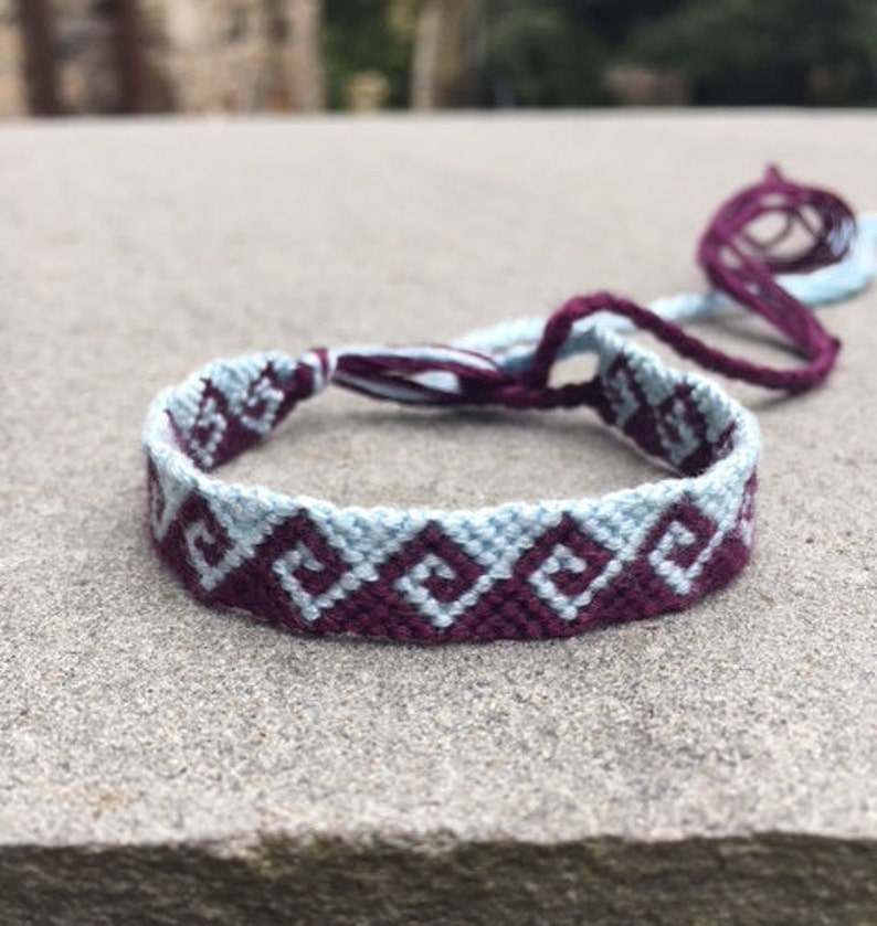 a29f041826560 Greek Wave Friendship Bracelet -- Blue and Purple Wave -- Perfect for Gifts  -- Colorful Jewelry -- By KnotTheUsualKnot on Etsy