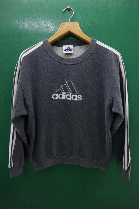 Items similar to Vintage Adidas Sweatshirt Embroidery Big Logo ...