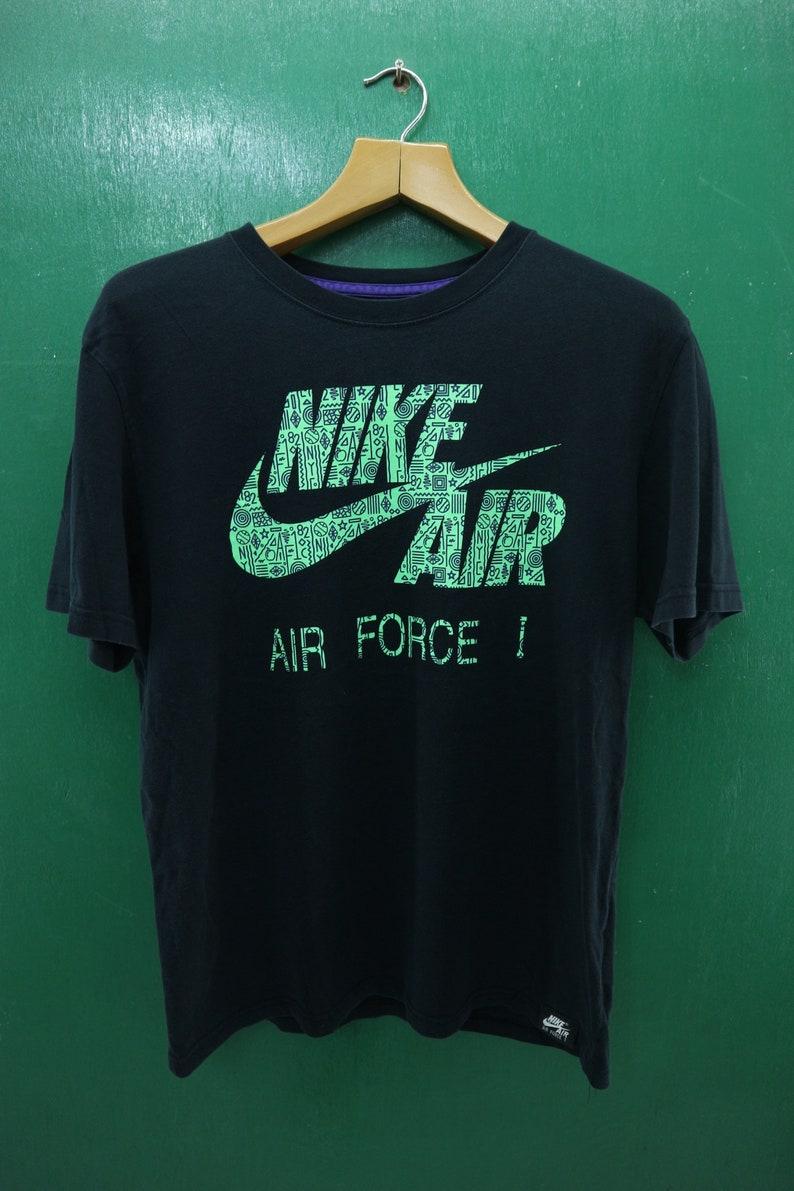 newest ee608 c19ee Vintage Nike Air Shirt Big Logo Air Force Sportswear   Etsy