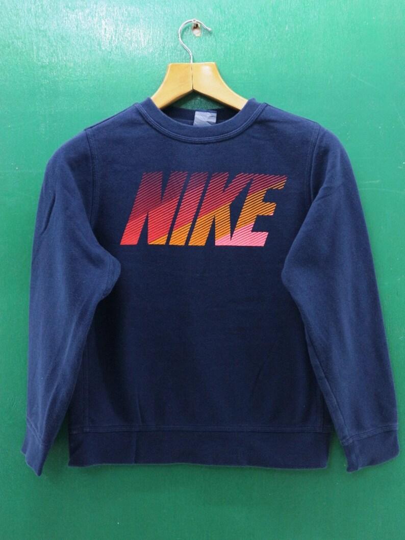 0e516c3f425fc Vintage Nike Sweatshirt Big Spell Out Sportswear Streetwear Pullover Crew  Neck Sweater Size L (G)