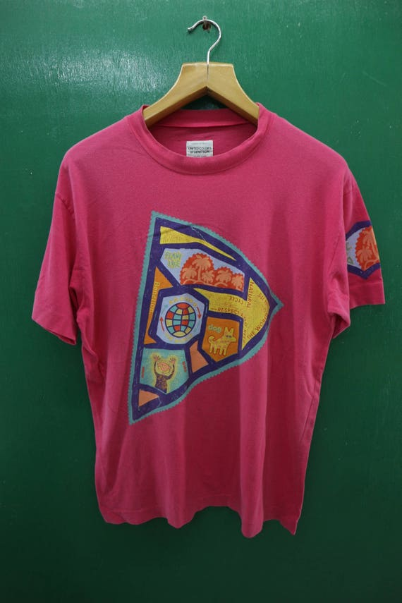 Vintage United Colors of Benetton T Shirt Vintage Benetton T Shirt Vintage Fashion Benetton Made in Italy Rare