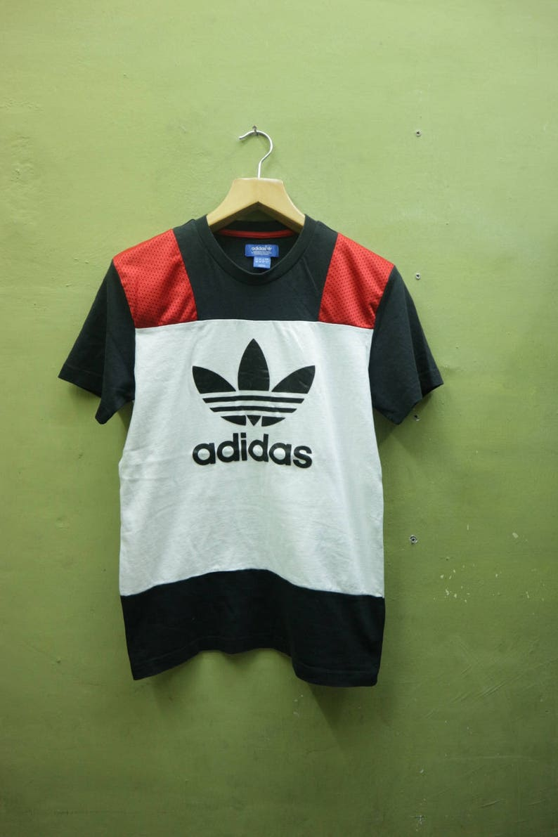 246d7ceb Vintage Adidas Shirt Big Logo Trefoil Sportswear Streetwear | Etsy