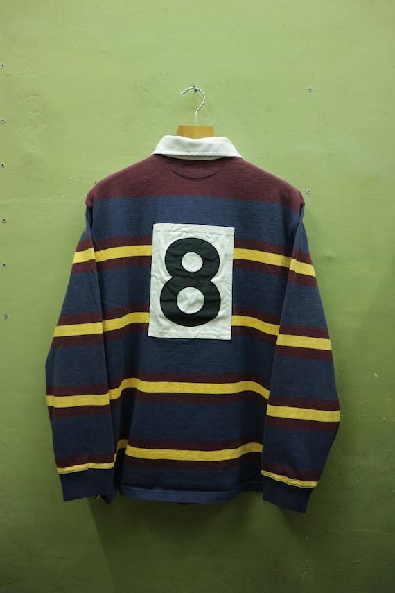 a6fe416192dc12 Vintage-Polo Ralph Lauren 8 Langarm Shirt Stickerei Logo Polos Sportswear  Streetwear Urban Fashion Größe XL