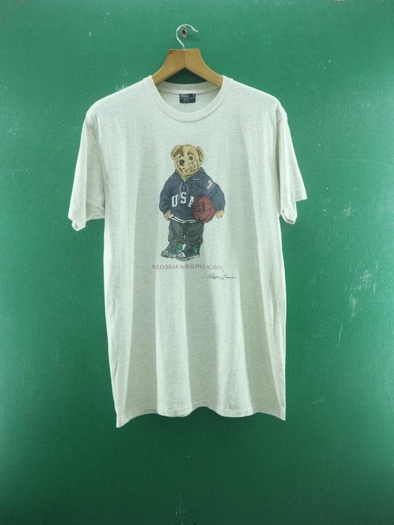 Vintage Polo Bear Shirt Big Logo Polo Bear By Ralp