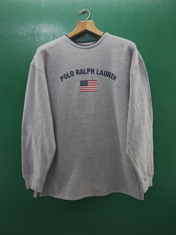 16a0efb6128 Vintage Polo Ralph Lauren Sweatshirt Big Spell Out Streetwear