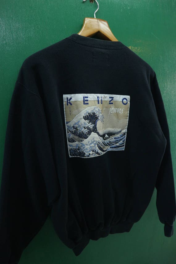 Size Urban Vintage Jeans Over Sweater Sweatshirt Neck Big Over Crew Logo Kenzo Fashion M pull Streetwear Pull 117PxZ4n