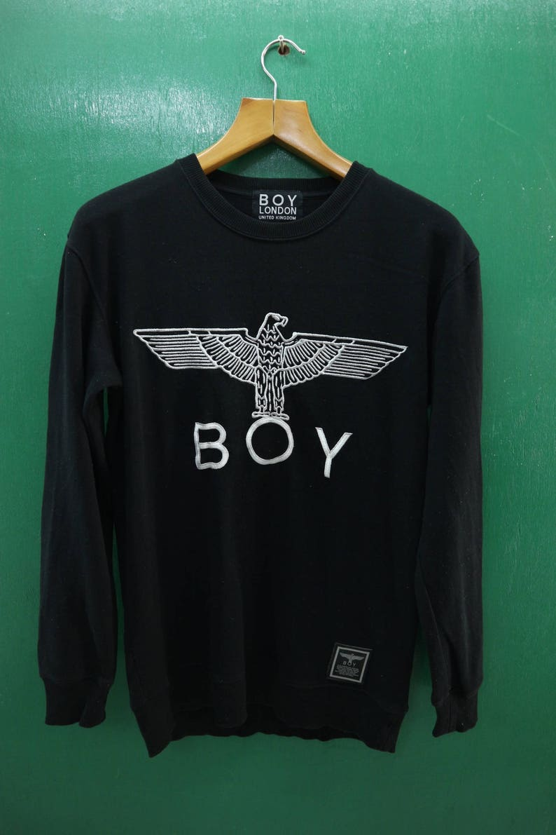 7409034ce12c Vintage Boy London Sweatshirt Embroidery Big Logo Designer