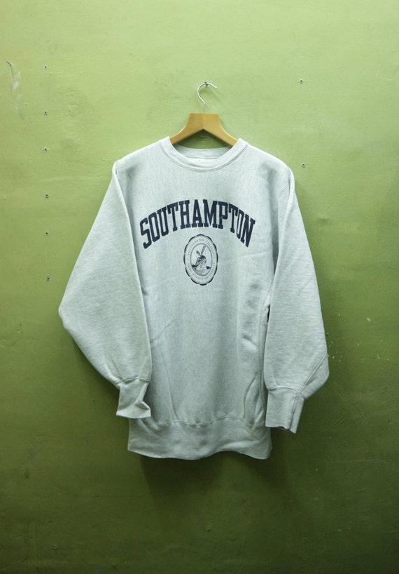 98b021a30053a Vintage Champion Reverse Weave Southamton Sweatshirt Sportswear Streetwear  Swag Hip Hop Sweater Size XXL