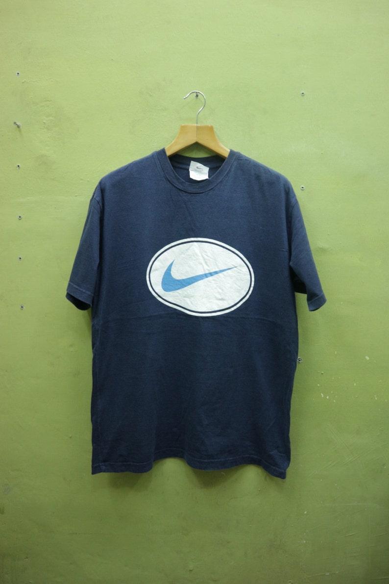 b8356d6ec6cb2 Vintage Nike Shirt Big Logo Sportswear Streetwear Hip Hop Top Tee Nike T  Shirt Size L