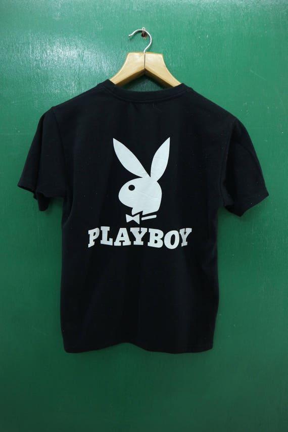 Vintage Playboy Shirt Big Logo Streetwear Urban Fashion Top Etsy
