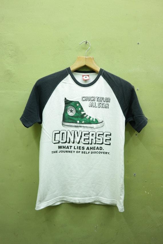 vintage Converse All Star Chuck Taylor Shirt Big Logo Skate Punk Rock Top T Shirt Taille M