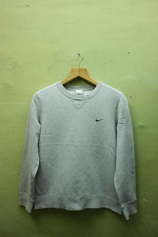 c79455c59fa6d Vintage Nike Sweatshirt Embroidery Logo Sportswear Streetwear Sweater Gray  Color Size M