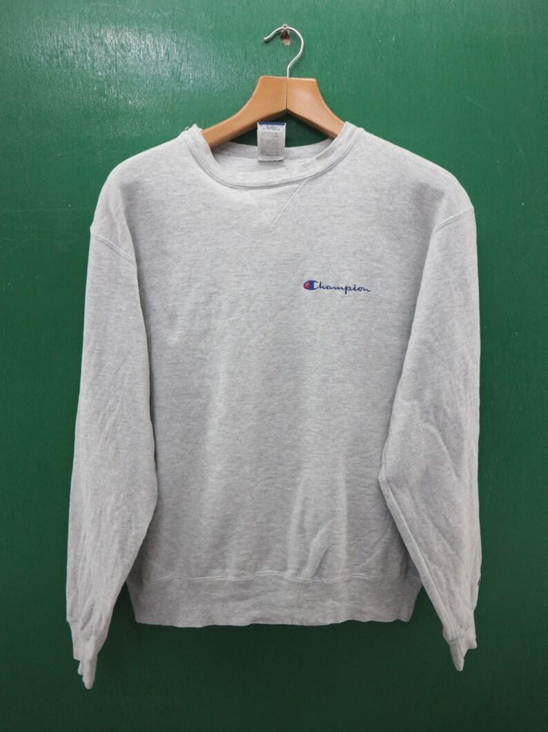 74993ba067f6a Vintage Champion Sweatshirt Embroidery Logo Sportswear Streetwear Swag Hip  Hop Pullover Crew Neck Pullover Sweater Size L