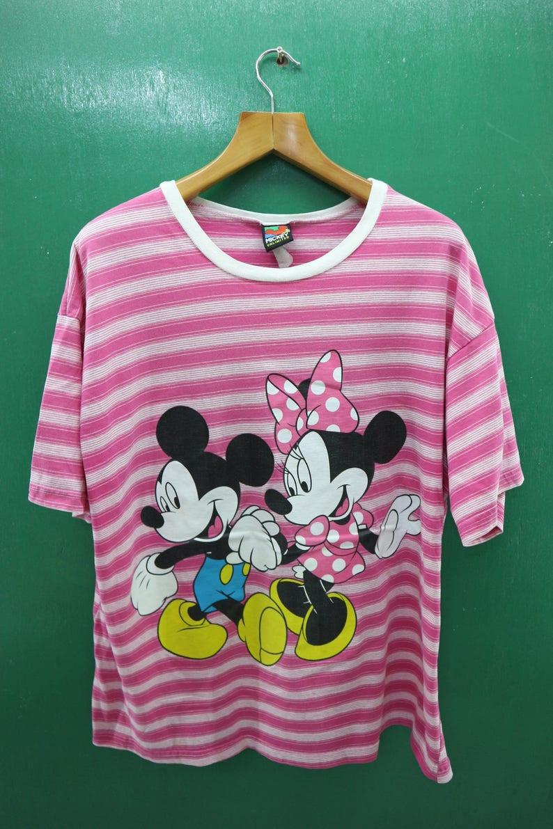 bd1df99f27 Vintage Mickey Mouse Minnie Mouse Shirt Big Logo Cartoon   Etsy