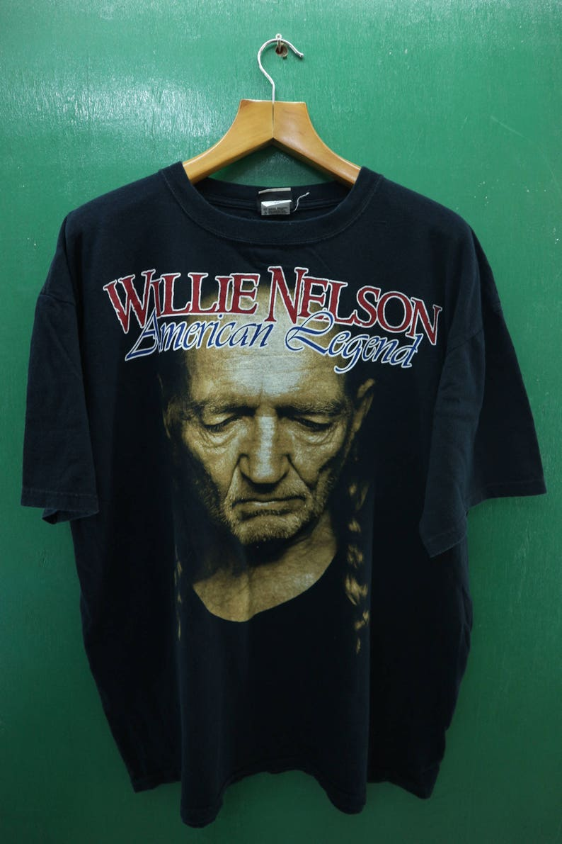 9c8980d69c9a Vintage Willie Nelson Shirt Big Logo American Legend Country
