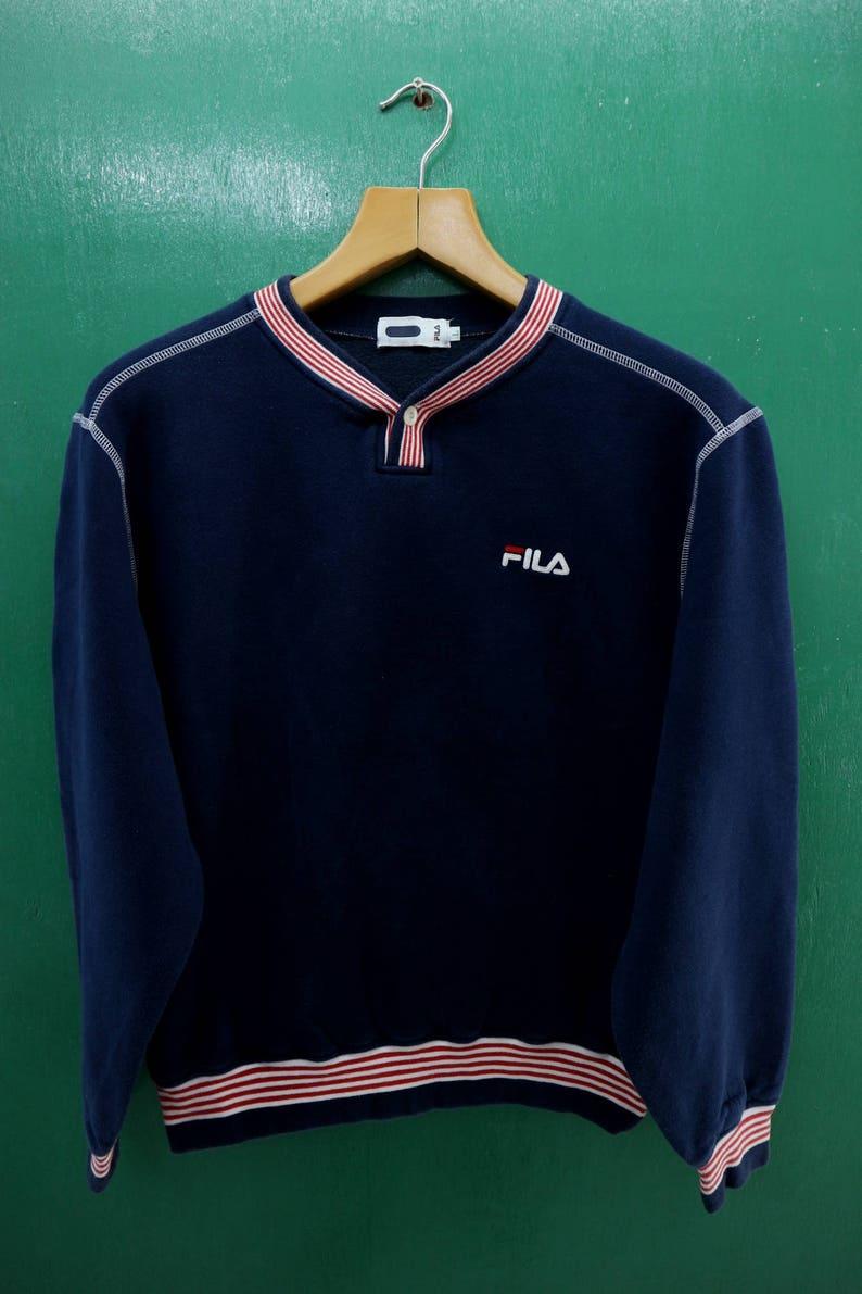 f382052d92d Vintage Fila Sweatshirt Embroidery Logo Sportswear Streetwear