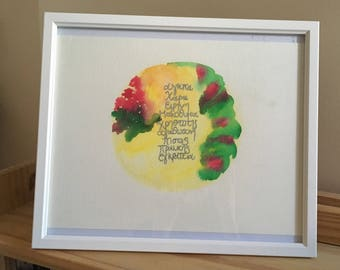 "Fruits if the Spirit 13x11"" frame - Example of Bespoke Piece"
