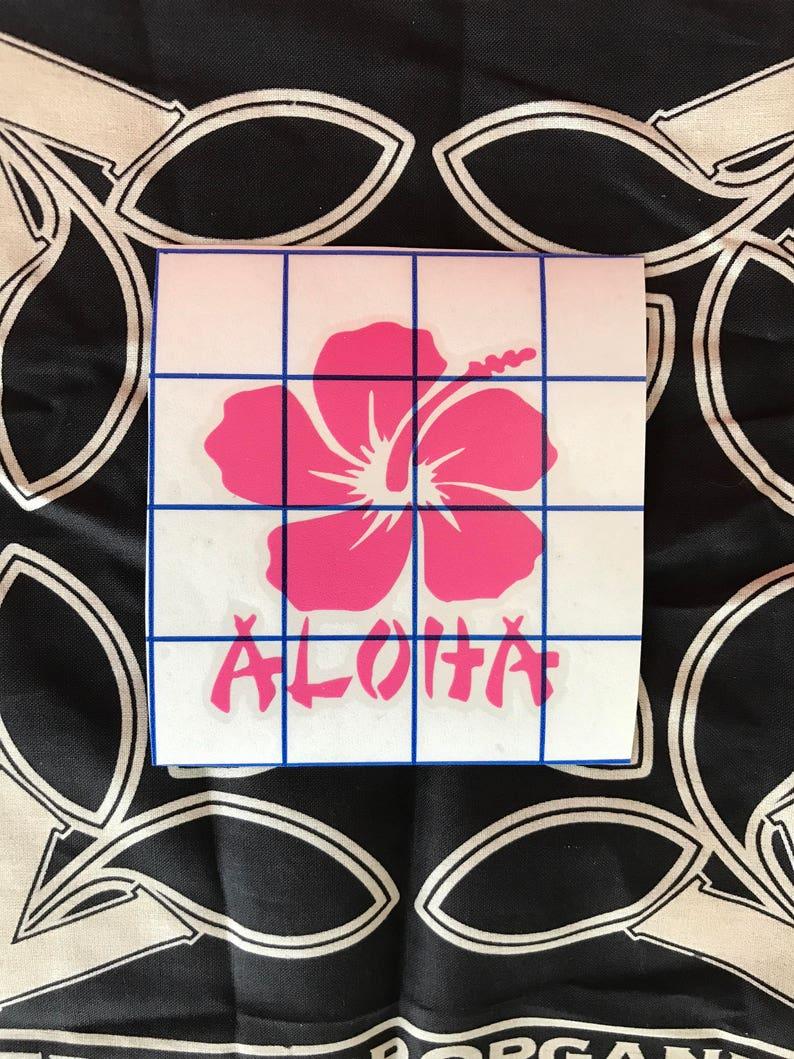 Aloha vinyl decal  sticker