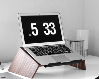 Laptop Stand, MacBook Stand, Wood Computer Stand, Wood Laptop Tray, Laptop  Raiser, Wood Laptop Holder, MacBook Holder, MacBook Stand