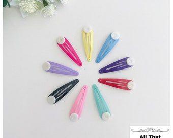 hair pin,bobby pin 100164 20pcs minimalist simple Hair slide with 10mm round pad hair barrette