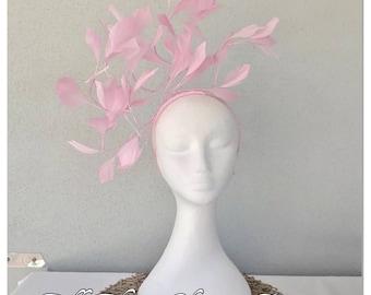 Pink feather headband fascinator *FREE EXPRESS POST*