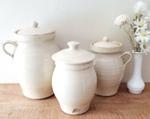 Vintage Rowe Pottery Works Canisters