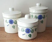 Vintage Ceramic Canisters California Crock Shop