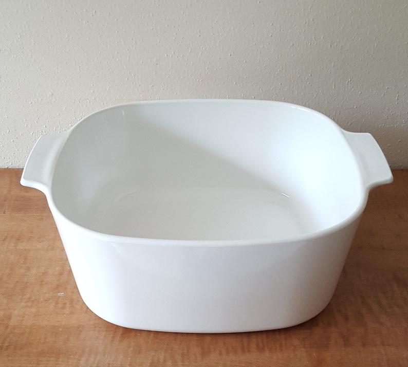 Corning Ware White Coupe 5L Just White Casserole Pyrex Lid~Centura Corningware All White Corning Casserole~