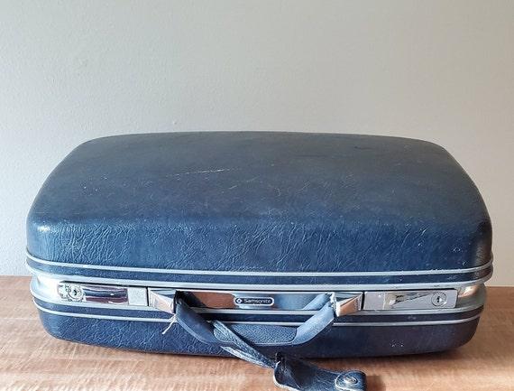 Vintage Suitcase Hard Shell Samsonite Travel Suitc