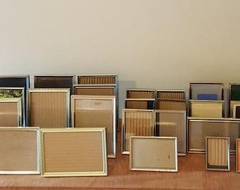 Vintage Gold Metal Picture Frames Sizes: (5x7) (4x6) (4x5) (3 1/2x5) (3 1/4 x 4 1/4) (3 1/2x3 1/2) (2x3) wallet & Silver Sizes Avail