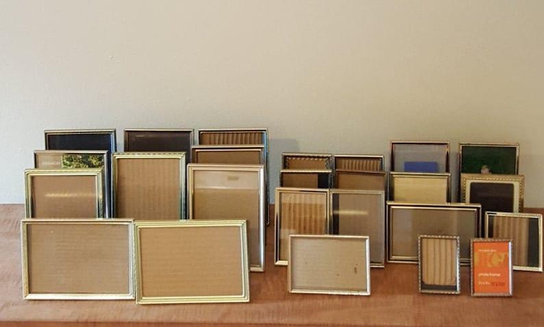 Vintage Gold Metal Picture Frames Sizes: 5x7 4x6 4x5 3 image 0