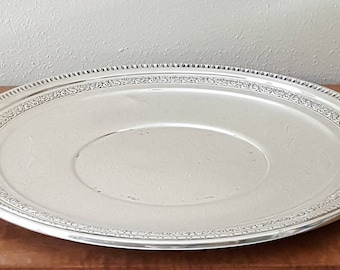 """Silverplated Serving Tray 14"""" Reed and Barton"""