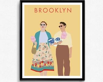 Brooklyn Movie Poster- Minimalist Film Print