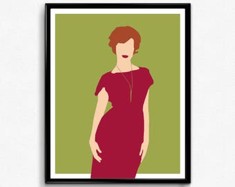 Joan Mad Men TV Poster, Minimalist print