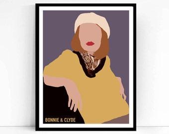 Bonnie & Clyde Movie Poster, Print