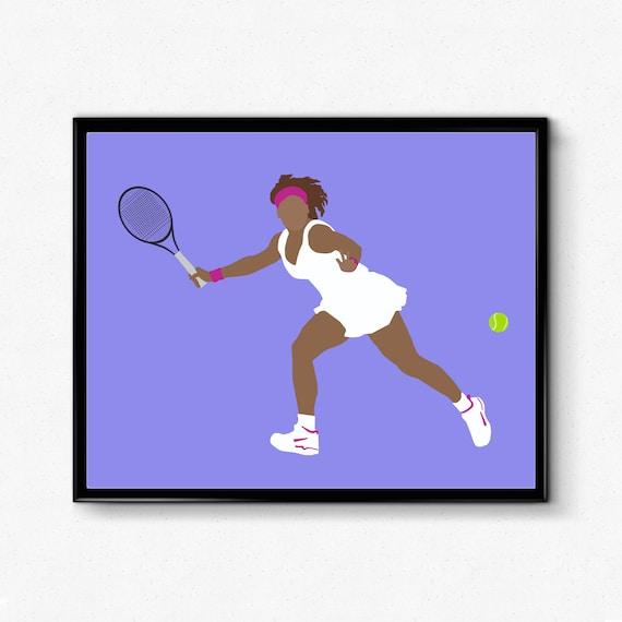 gifts prints Venus Williams poster posters gift Tennis print wall art