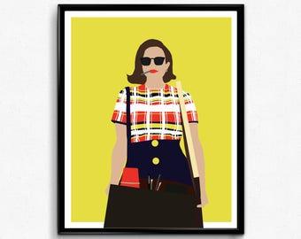Peggy Mad Men TV Poster, Minimalist print
