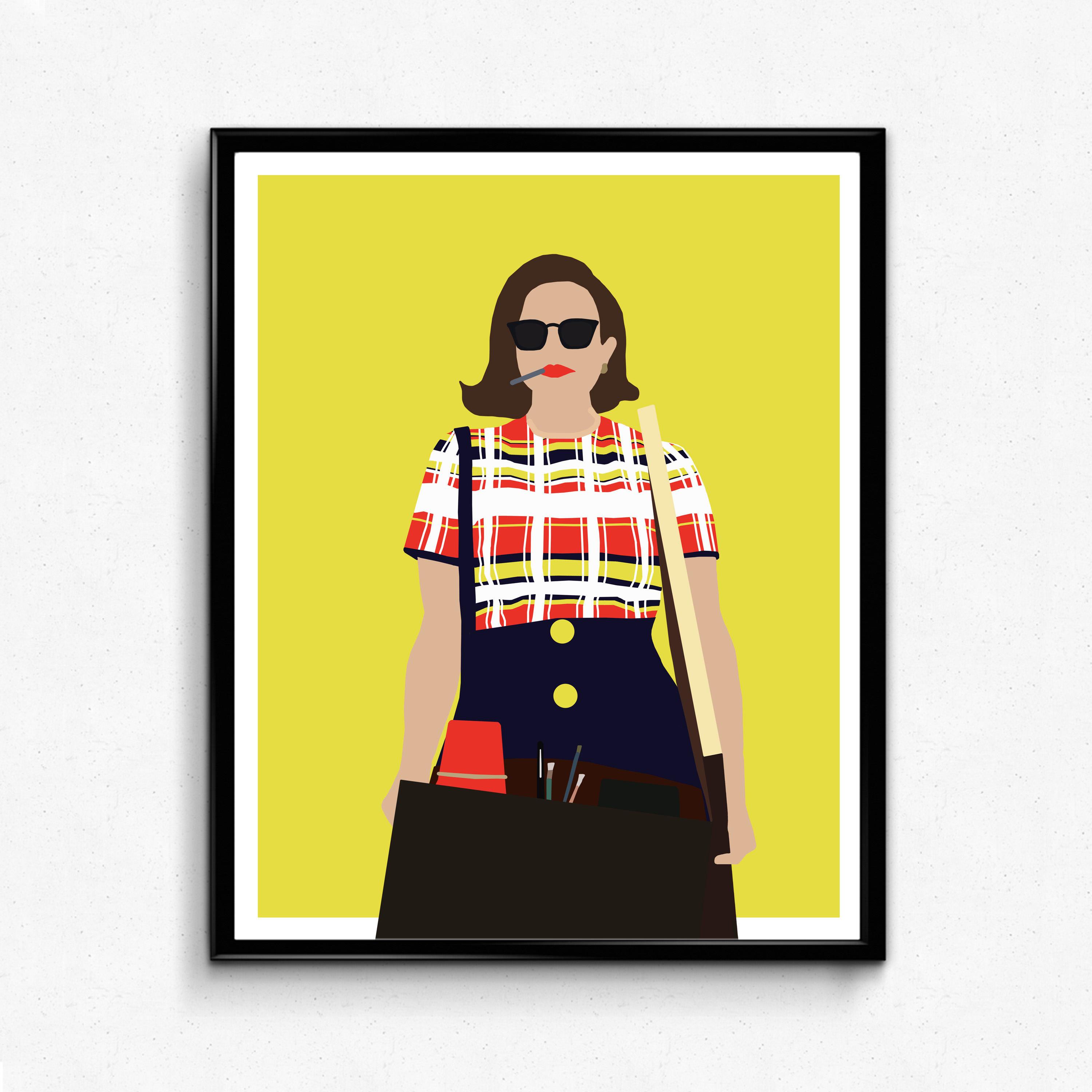 Peggy Mad Men TV Poster Minimalist print