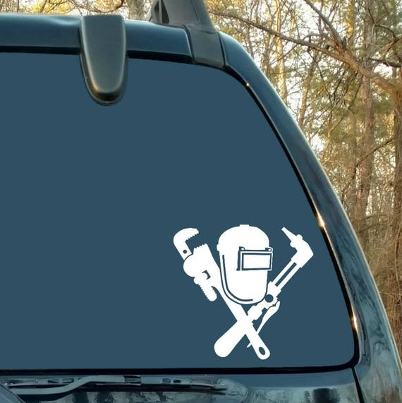Welder Decal Welding Decal Pipefitter Decal Car Decal Etsy