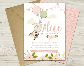 Printable French Bulldog Birthday Invitation